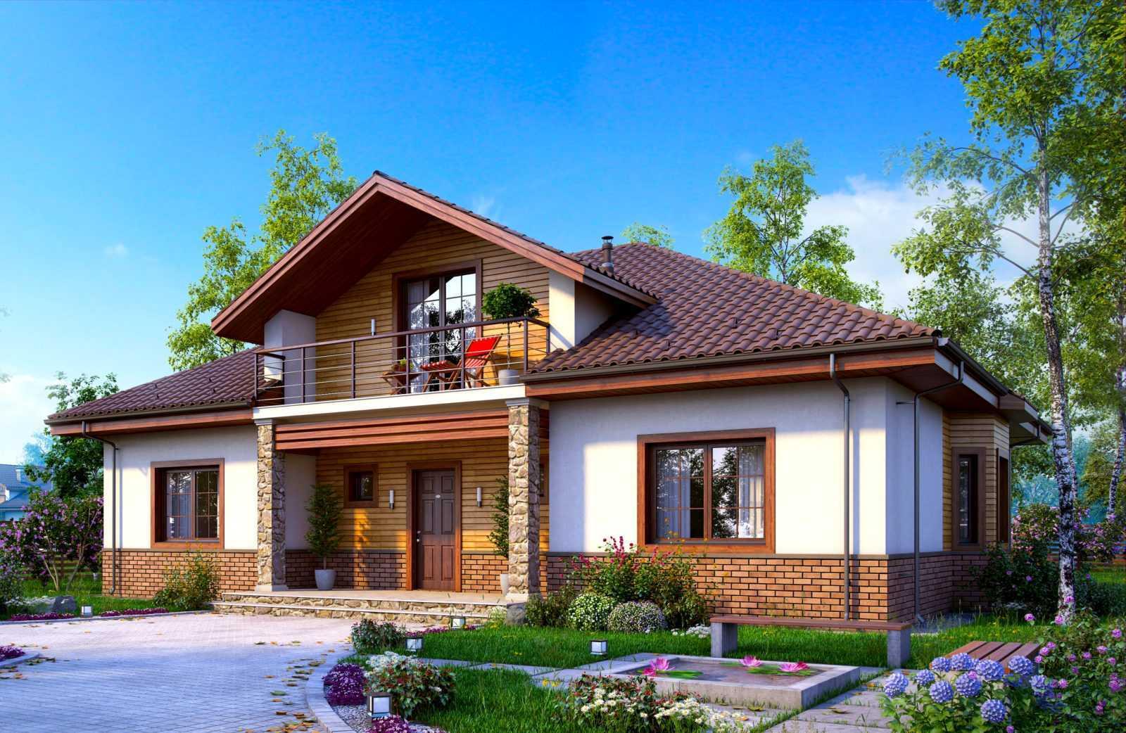 кирпичные дома с мансардой и балконом фото свастики сегодня